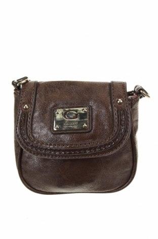 Γυναικεία τσάντα Guess, Χρώμα Καφέ, Δερματίνη, Τιμή 14,03€