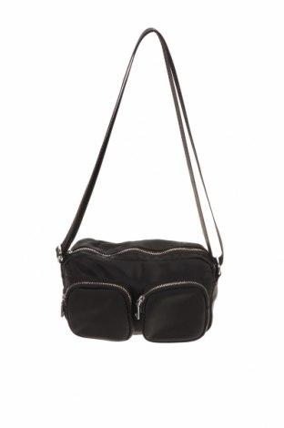 Дамска чанта H&M Divided, Цвят Черен, Текстил, Цена 19,95лв.
