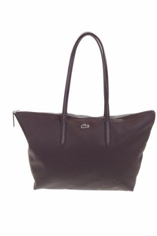 Γυναικεία τσάντα Lacoste, Χρώμα Βιολετί, Δερματίνη, Τιμή 36,19€
