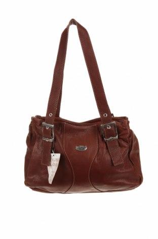 Дамска чанта L'artigiano, Цвят Кафяв, Естествена кожа, Цена 195,46лв.