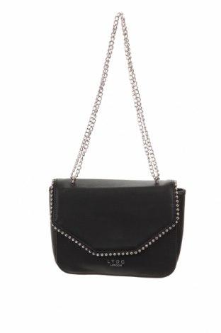 Γυναικεία τσάντα Lydc London, Χρώμα Μαύρο, Δερματίνη, Τιμή 18,70€