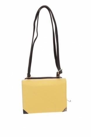 Дамска чанта Marks & Spencer, Цвят Жълт, Еко кожа, Цена 16,17лв.