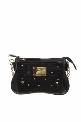 Дамска чанта Nicole by Nicole Miller, Цвят Черен, Еко кожа, Цена 41,06лв.