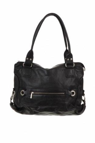 Дамска чанта Pierre Cardin, Цвят Черен, Естествена кожа, Цена 98,70лв.