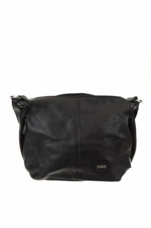 Дамска чанта Pierre Cardin, Цвят Черен, Естествена кожа, Цена 93,45лв.