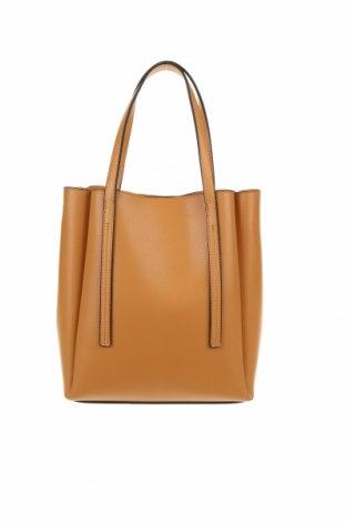 Γυναικεία τσάντα Pull&Bear, Χρώμα  Μπέζ, Δερματίνη, Τιμή 15,77€