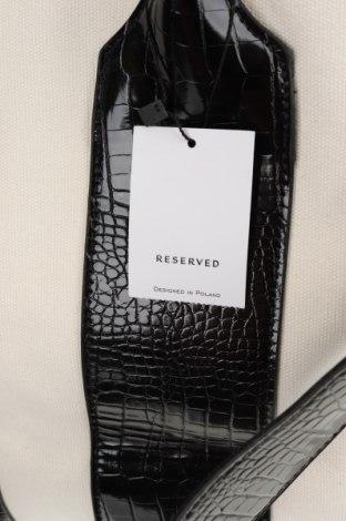 Дамска чанта Reserved, Цвят Бежов, Текстил, еко кожа, Цена 37,95лв.