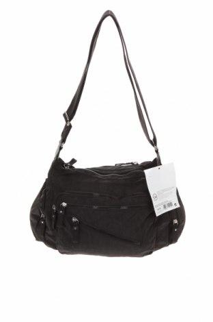 Дамска чанта Woman By Tchibo, Цвят Черен, Текстил, Цена 32,55лв.