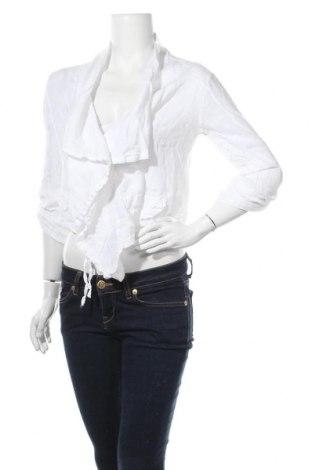 Дамска жилетка Carna By, Размер L, Цвят Бял, 100% лен, Цена 7,61лв.
