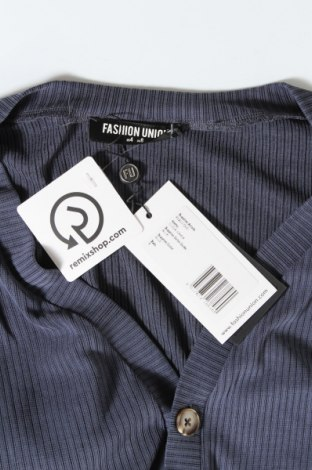 Дамска жилетка Fashion Union, Размер S, Цвят Син, 65% модал, 33% полиестер, 2% еластан, Цена 14,04лв.