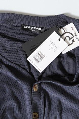 Дамска жилетка Fashion Union, Размер M, Цвят Син, 65% модал, 33% полиестер, 2% еластан, Цена 14,04лв.