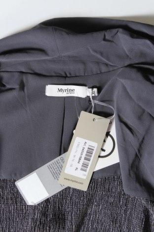 Дамска жилетка Myrine, Размер XL, Цвят Сив, 81% полиестер, 18% вискоза, 1% еластан, Цена 15,34лв.