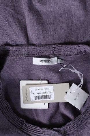 Дамска жилетка Myrine, Размер S, Цвят Лилав, 80% памук, 20% еластан, Цена 17,70лв.
