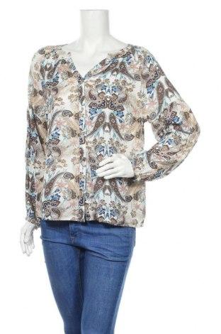 Γυναικείο δερμάτινο πουκάμισο Cream, Μέγεθος S, Χρώμα Πολύχρωμο, Βισκόζη, Τιμή 22,76€