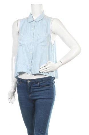 Γυναικείο πουκάμισο Abercrombie & Fitch, Μέγεθος L, Χρώμα Μπλέ, Lyocell, Τιμή 20,98€