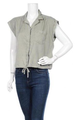Γυναικείο πουκάμισο Abercrombie & Fitch, Μέγεθος L, Χρώμα Πράσινο, Lyocell, Τιμή 19,87€