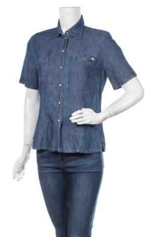 Γυναικείο πουκάμισο Basler, Μέγεθος M, Χρώμα Μπλέ, 55% βαμβάκι, 45% λινό, Τιμή 19,87€