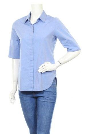 Дамска риза COS, Размер M, Цвят Син, Памук, Цена 33,60лв.