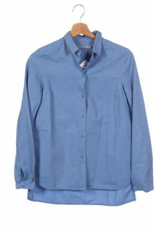 Дамска риза COS, Размер XS, Цвят Син, Памук, Цена 37,44лв.