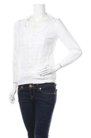 Γυναικείο πουκάμισο Cache Cache, Μέγεθος S, Χρώμα Λευκό, 70% βαμβάκι, 30% μετάξι, Τιμή 5,91€