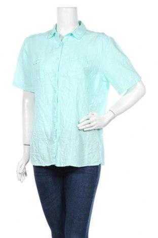 Γυναικείο πουκάμισο Charles Vogele, Μέγεθος XL, Χρώμα Μπλέ, 60% λινό, 40% βαμβάκι, Τιμή 11,69€