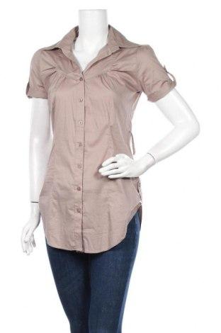 Γυναικείο πουκάμισο Chicoree, Μέγεθος S, Χρώμα  Μπέζ, 97% βαμβάκι, 3% ελαστάνη, Τιμή 10,49€