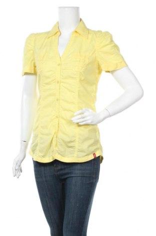 Γυναικείο πουκάμισο Edc By Esprit, Μέγεθος M, Χρώμα Κίτρινο, Βαμβάκι, Τιμή 11,69€