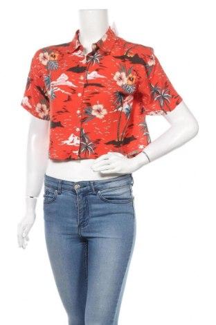Γυναικείο πουκάμισο Forever 21, Μέγεθος S, Χρώμα Κόκκινο, Βισκόζη, Τιμή 13,58€