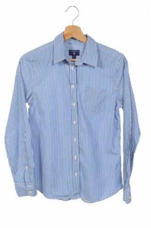 Дамска риза Gant, Размер XS, Цвят Син, Цена 15,12лв.