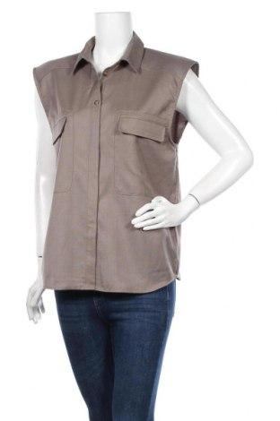 Γυναικείο πουκάμισο Gestuz, Μέγεθος S, Χρώμα Πράσινο, 87% πολυεστέρας, 8% βισκόζη, 5% μαλλί, Τιμή 35,83€