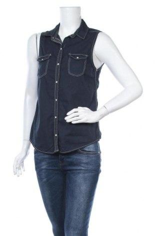 Дамска риза H&M Divided, Размер M, Цвят Син, Памук, Цена 14,70лв.