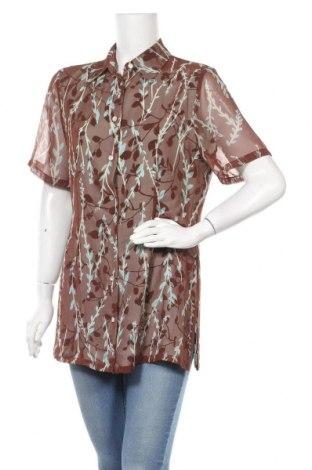 Γυναικείο πουκάμισο In Wear, Μέγεθος L, Χρώμα Καφέ, Πολυεστέρας, Τιμή 10,10€