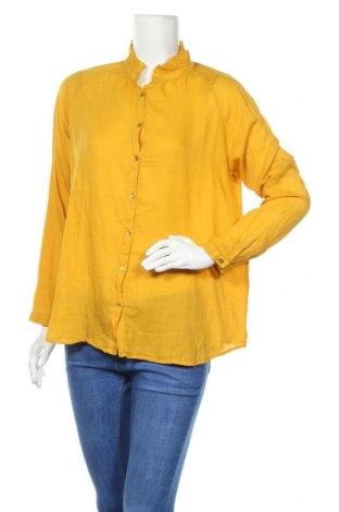Дамска риза Kookai, Размер L, Цвят Оранжев, 100% памук, Цена 64,00лв.