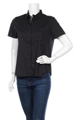 Γυναικείο πουκάμισο La Redoute, Μέγεθος L, Χρώμα Μαύρο, 69% βαμβάκι, 29% πολυαμίδη, 3% ελαστάνη, Τιμή 8,31€