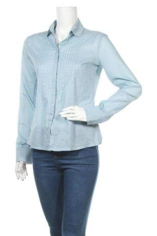 Γυναικείο πουκάμισο Lacoste, Μέγεθος M, Χρώμα Μπλέ, Βαμβάκι, Τιμή 17,73€
