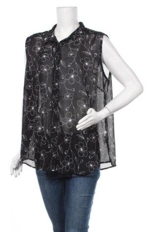 Γυναικείο πουκάμισο Laura Torelli, Μέγεθος XXL, Χρώμα Μαύρο, Πολυεστέρας, Τιμή 11,04€