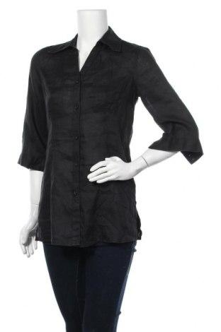 Дамска риза Maddison, Размер S, Цвят Черен, Лен, Цена 15,17лв.