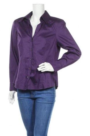 Γυναικείο πουκάμισο Madeleine, Μέγεθος L, Χρώμα Βιολετί, Βαμβάκι, Τιμή 16,48€