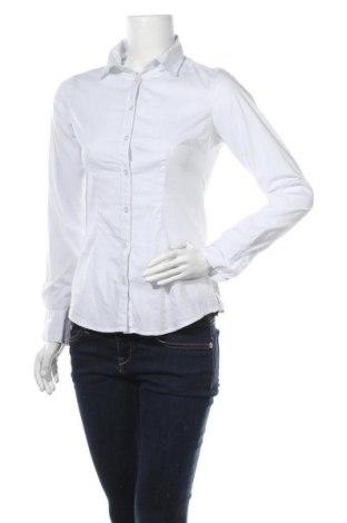 Γυναικείο πουκάμισο Maison Scotch, Μέγεθος S, Χρώμα Λευκό, 66% βαμβάκι, 31% πολυαμίδη, 3% ελαστάνη, Τιμή 21,04€
