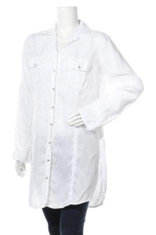 Γυναικείο πουκάμισο Marc O'Polo, Μέγεθος L, Χρώμα Λευκό, 100% λινό, Τιμή 22,08€