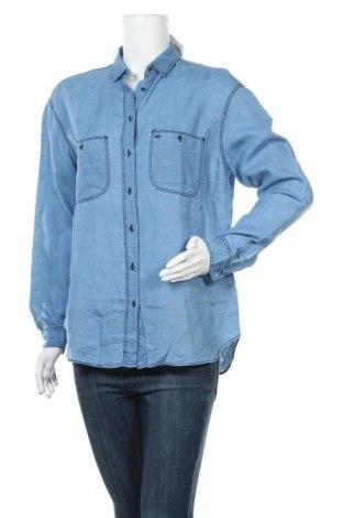 Γυναικείο πουκάμισο Massimo Dutti, Μέγεθος M, Χρώμα Μπλέ, 100% λινό, Τιμή 25,33€