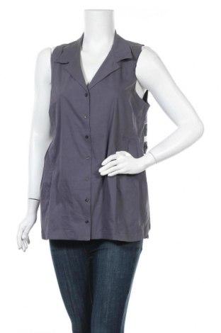 Γυναικείο πουκάμισο Myrine, Μέγεθος L, Χρώμα Γκρί, 73% βαμβάκι, 23% πολυαμίδη, 4% ελαστάνη, Τιμή 10,82€