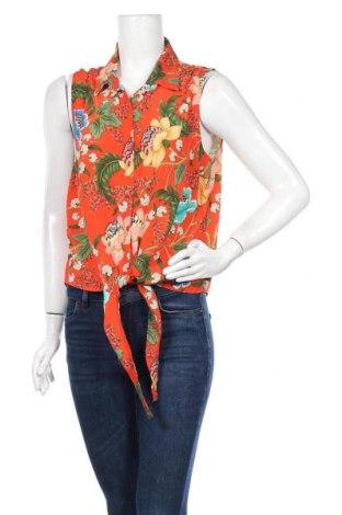Γυναικείο πουκάμισο Naf Naf, Μέγεθος M, Χρώμα Πορτοκαλί, Βισκόζη, Τιμή 10,49€