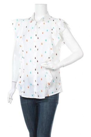 Γυναικείο πουκάμισο Nife, Μέγεθος XL, Χρώμα Λευκό, 98% πολυεστέρας, 2% ελαστάνη, Τιμή 14,74€