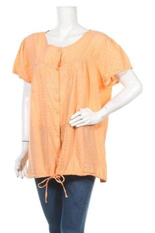 Γυναικείο πουκάμισο Okay, Μέγεθος 3XL, Χρώμα Πορτοκαλί, Βαμβάκι, Τιμή 9,94€