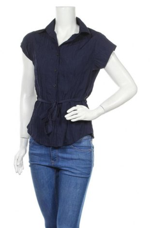 Γυναικείο πουκάμισο Okay, Μέγεθος M, Χρώμα Μπλέ, Πολυεστέρας, Τιμή 5,68€