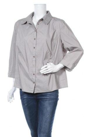 Γυναικείο πουκάμισο One Touch, Μέγεθος XXL, Χρώμα  Μπέζ, 52% βαμβάκι, 24% πολυαμίδη, 20% πολυεστέρας, 4% ελαστάνη, Τιμή 10,52€