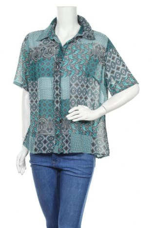 Γυναικείο πουκάμισο One Touch, Μέγεθος L, Χρώμα Πράσινο, Πολυεστέρας, Τιμή 11,04€