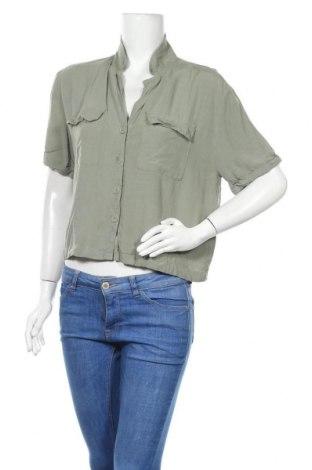 Γυναικείο πουκάμισο Oysho, Μέγεθος S, Χρώμα Πράσινο, Τιμή 9,94€