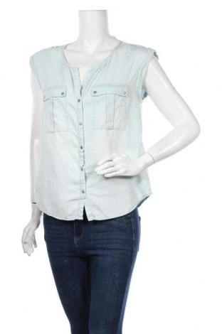 Γυναικείο πουκάμισο Promod, Μέγεθος M, Χρώμα Μπλέ, Lyocell, Τιμή 11,69€